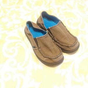 Crocs Kids Canvas Brown Slip on shoes Size 2